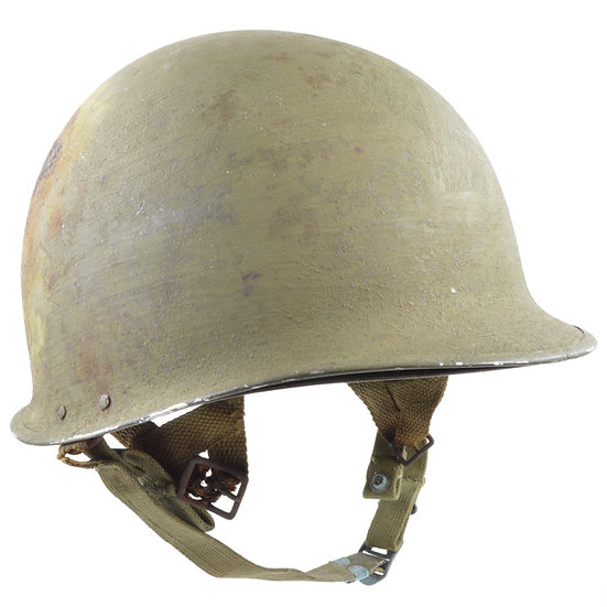 Original WW2 M2 D-Bail Helmet & Inland Paratrooper Liner For Sale