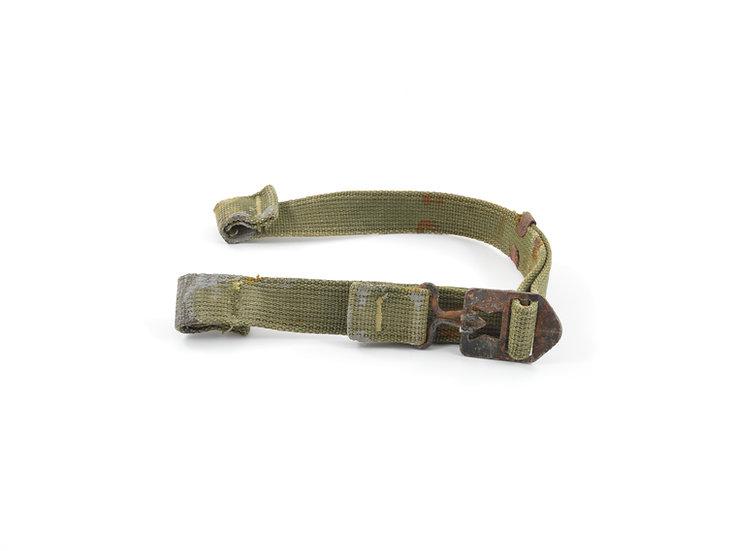 Original Late-WW2 Web Helmet Chinstraps OD#7 (Green) For Sale