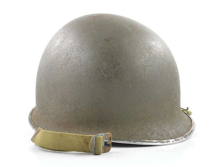 Original Early-WW2 Fixed Loop M1 Helmet & Westinghouse Liner Set For Sale