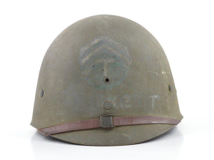 Original Late-WW2 Tech Corporal's Inland/Firestone M1 Helmet Liner For Sale