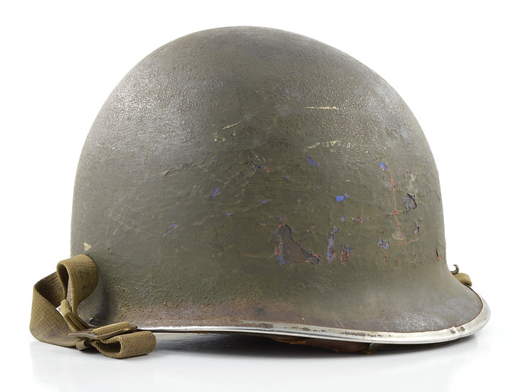 Mid-WWII USN D-Day Invasion Fixed Loop M1 Helmet & MSA Liner (1942 Set)