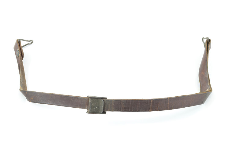 WWII Leather Liner Strap With Green Steel Buckle (Blemished)