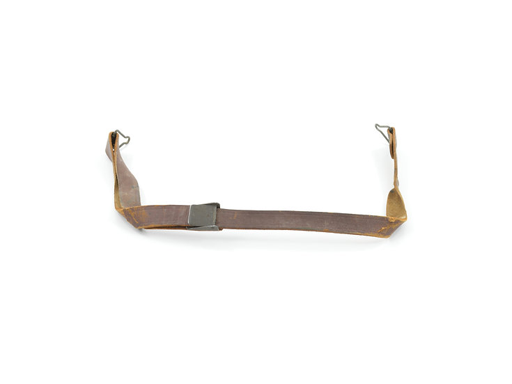 Original WW2 Leather Liner Strap With Flat Green Steel Buckle For Sale