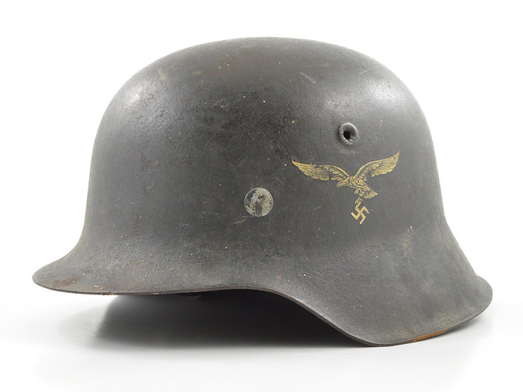 WWII German M42 Single Decal Luftwaffe Helmet (ET64)