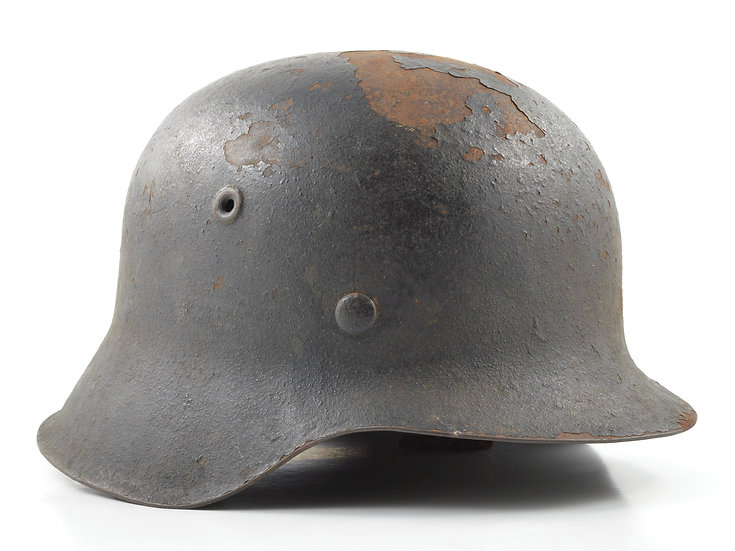 WWII German M42 Luftwaffe Helmet & Liner Set (EF62)