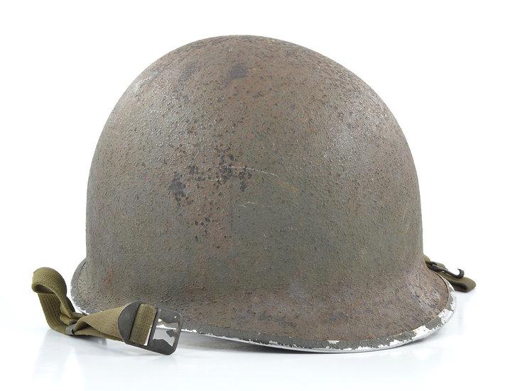 Original WW2 U.S. Fixed Loop McCord M1 Helmet Shell (May 1943) For Sale