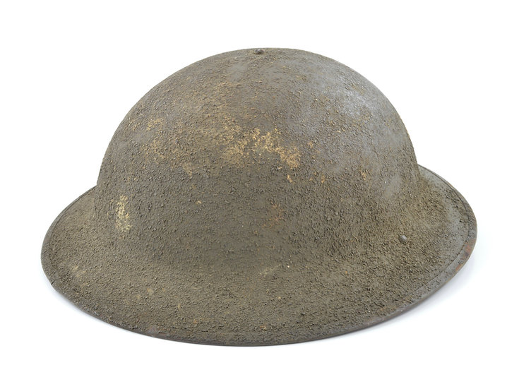 Original WW1 M1917 Helmet Set (Complete) For Sale