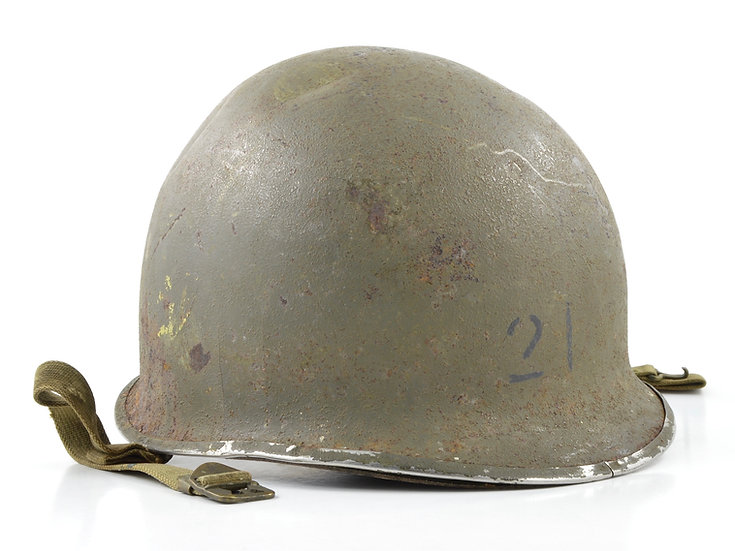 WWII USCG Shore Party Fixed Loop M1 Helmet & Inland Liner (Painted Set)