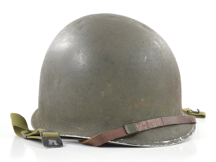 Original Mid-WW2 U.S. Fixed Loop M1 Helmet & Westinghouse Liner (1943 Set) For Sale