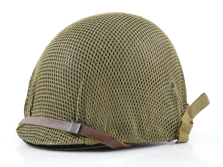 Mid-WWII Swivel Loop Schlueter M1 Helmet & Westinghouse Liner (1944 Set)