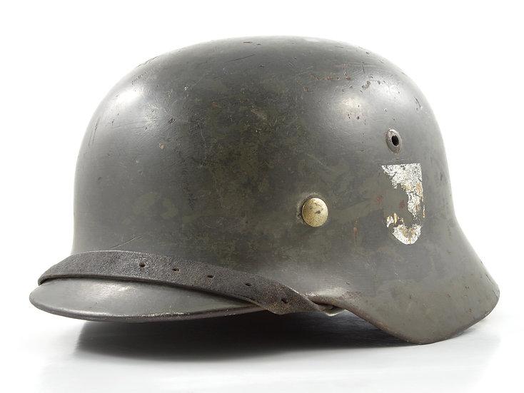 WWII German M35 Heer Helmet & Liner Set (ET68)