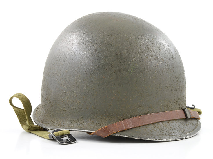 Mid-WWII Fixed Loop M1 Helmet & Inland/Firestone Liner (1943 Set)