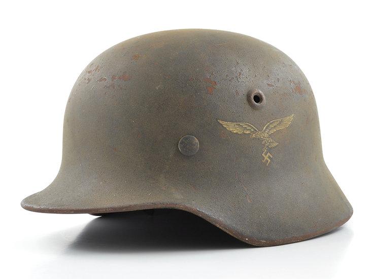 WWII German M40 Luftwaffe Helmet & Liner Set (Q64)