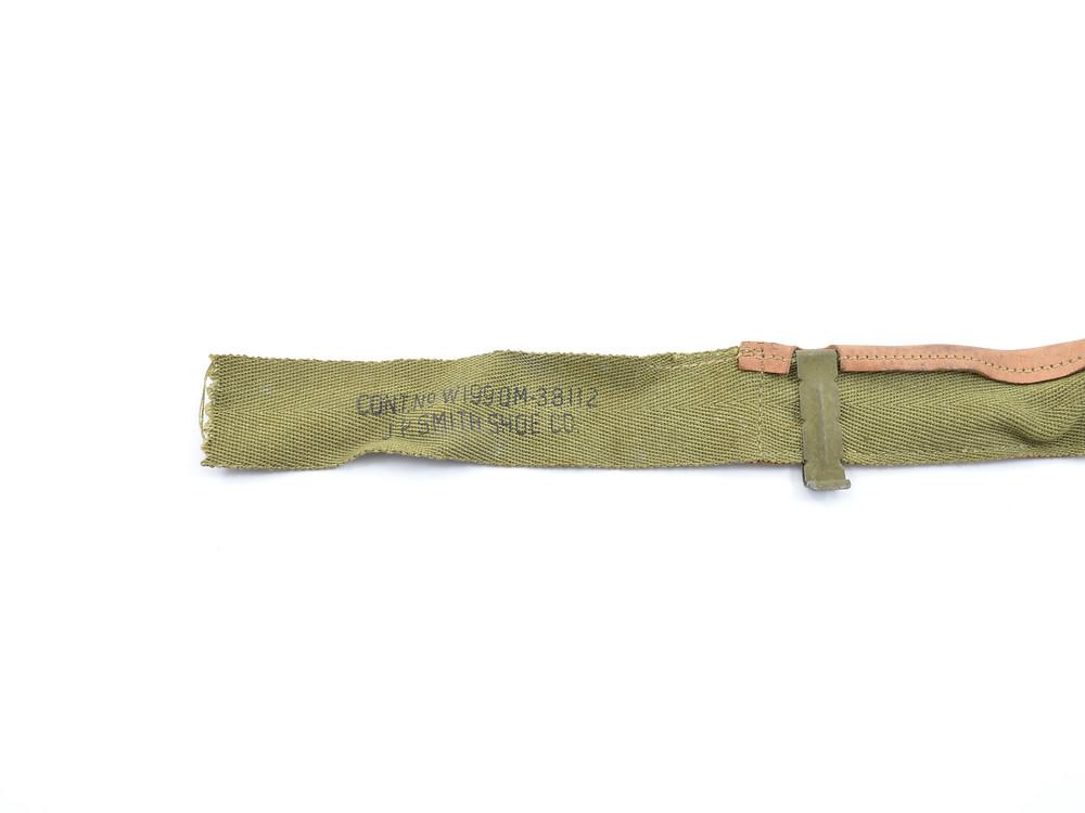 WW2 Sweatband CONT.No. W199 QM-38112 J.P. Smith Shoe Co.
