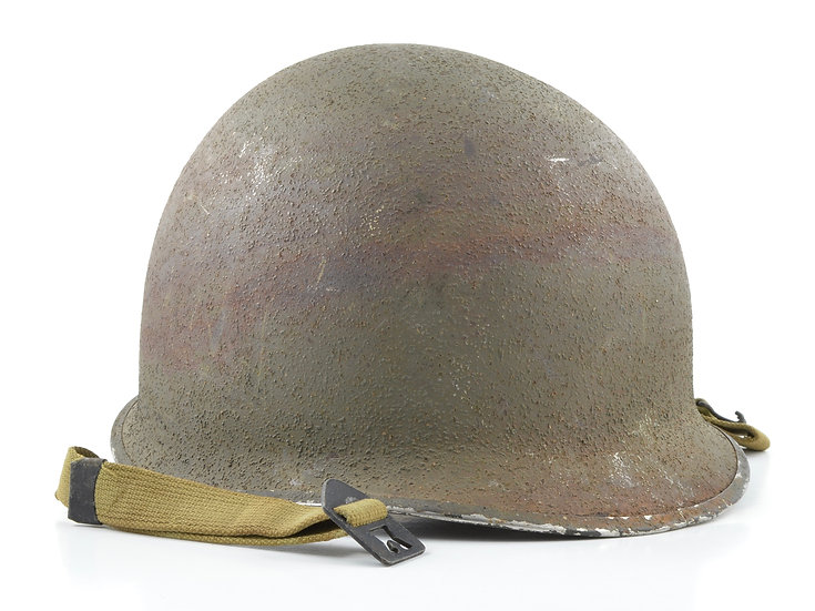 Mid-WWII Swivel Loop M1 Helmet & Westinghouse Liner (1944 Set)