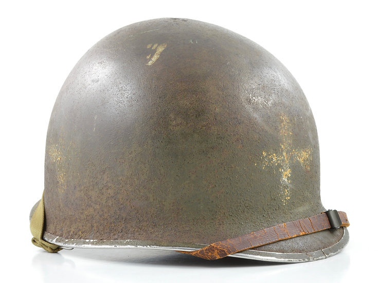 WWII Fixed Loop M1 Helmet & Westinghouse Liner Medic Set (1942-43)