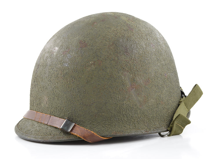 Late-WWII Schlueter Swivel Loop M1 Helmet & Capac Liner (1945 Set)