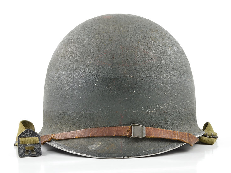 Mid-WWII USN D-Day Invasion Fixed Loop M1 Helmet & Firestone Liner (1943 Set)