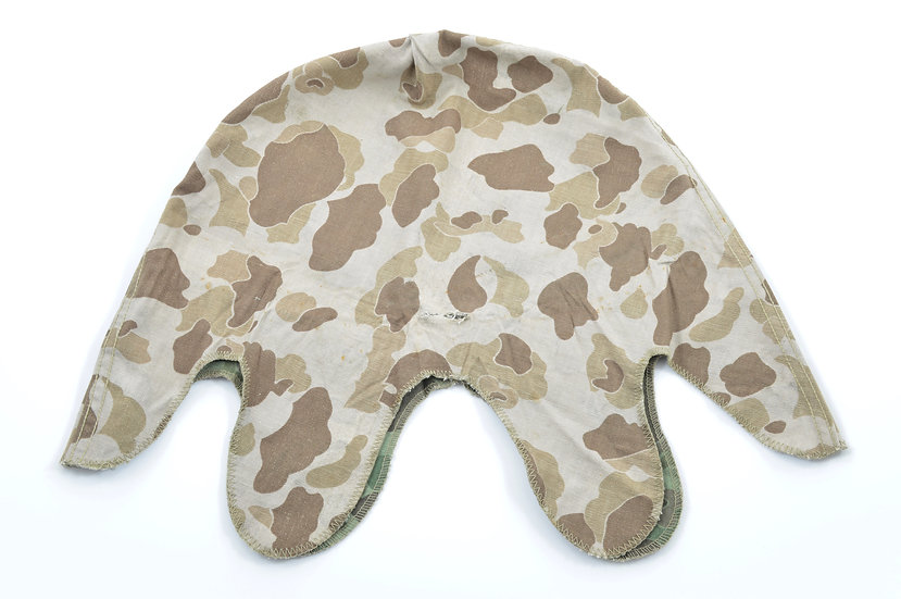 Original Late-WW2 USMC Camouflage Helmet Cover For Sale