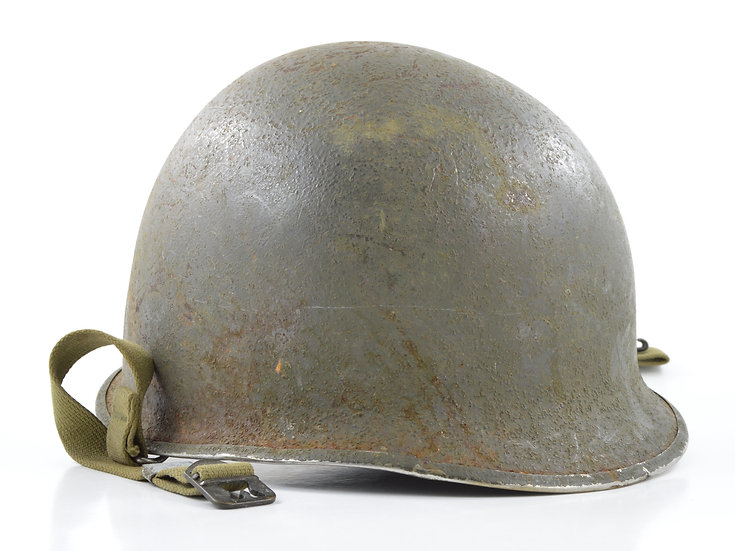 Original WW2 Swivel Loop McCord M1 Helmet & Westinghouse Liner (Mid-1944 Set)