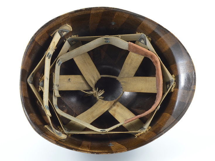 Early-WWII Westinghouse M1 Helmet Liner With Rayon Suspension