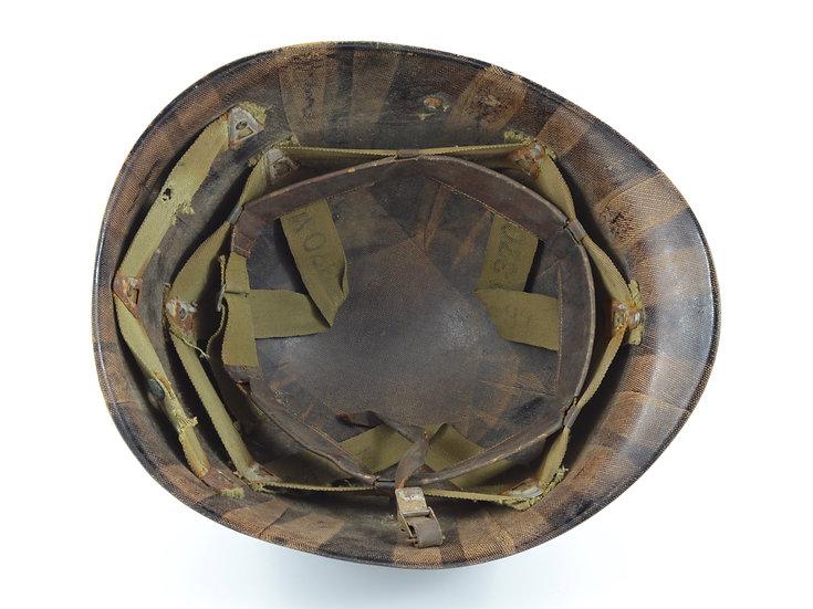 Original WW2 Inland M1 Helmet Liner (Named & ID'd) For Sale