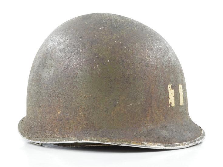 WWII Fixed Loop M1 Helmet & St. Clair Liner (Captain's Set)
