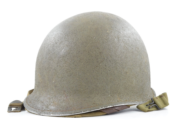 WWII Fixed Loop M1 Helmet & Rayon Hawley Liner (1941 Set)