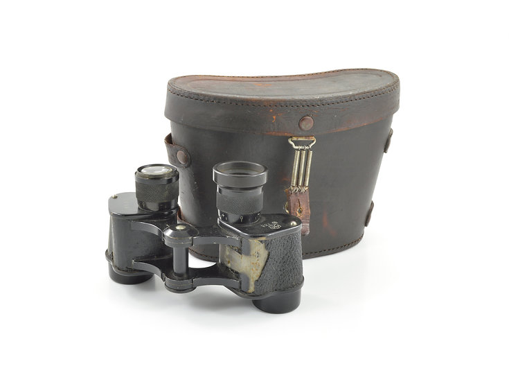 Original Pre-WW2 Imperial Japanese Army 6 x 9.3° Nikko Binoculars With Leather Case For Sale