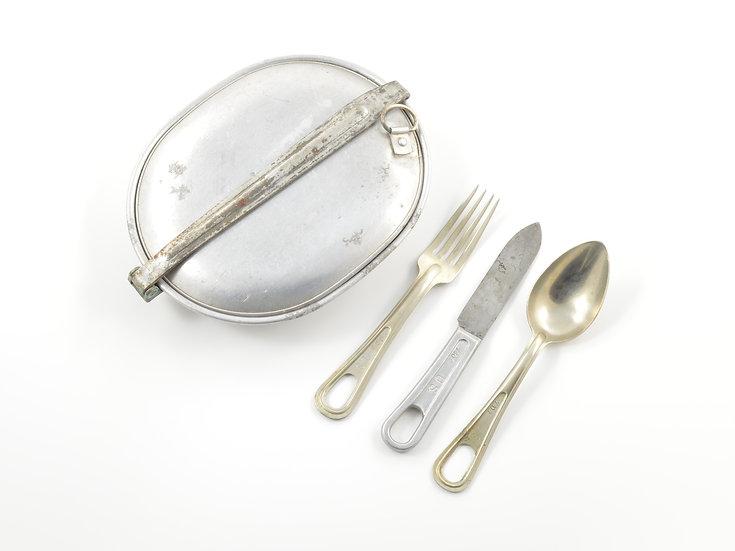 WWI Mess Kit & Utensils (ID'd Set)