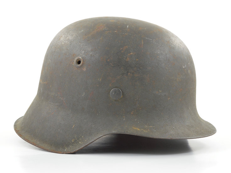 Original WW2 German M42 No Decal Heer/Waffen SS Helmet & Liner Set (CKL64) For Sale