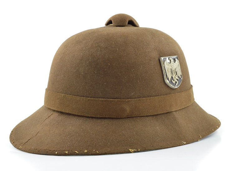 WWII German Deutsches Afrikakorps DAK Heer Double Decal Pith Helmet