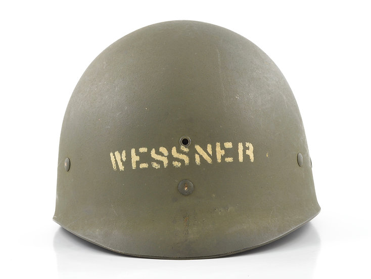 Late-WWII MSA Infantry M1 Helmet Liner (ID'd)