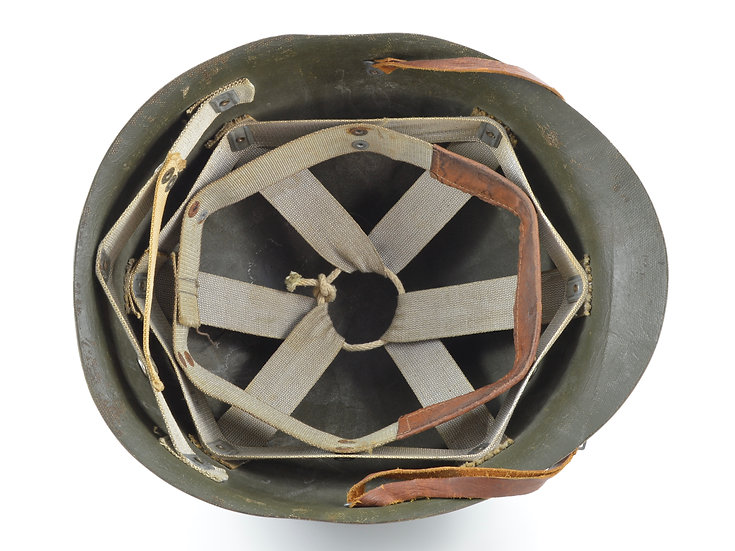 Early-WWII St. Clair Helmet Liner With Rayon Suspension & Green Interior