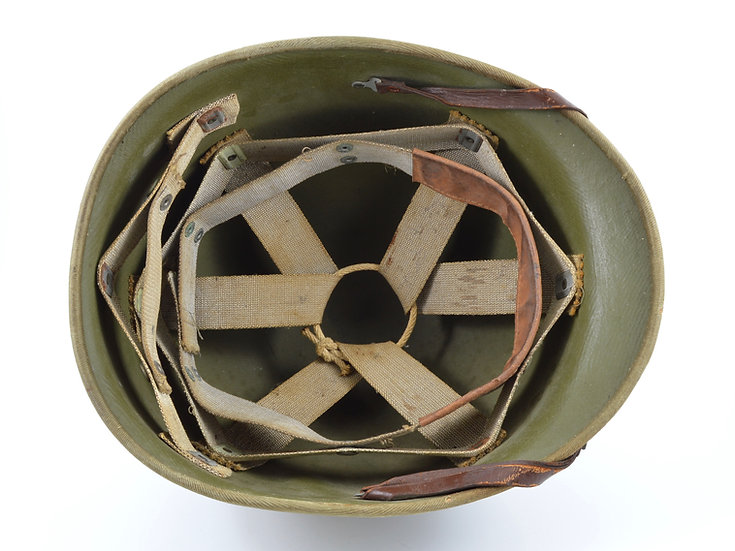 "Early-WWII General Fibre Co. ""Hawley"" M1 Helmet Liner With Rayon Suspension"