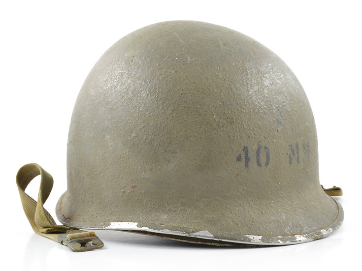 WWII USCG Shore Party Fixed Loop Helmet & Inland/Firestone Liner (Painted Set)