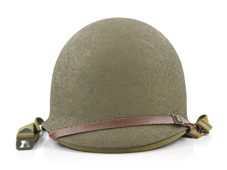 Original WW2 Fixed Loop M1 Helmet & Rayon Hawley Liner (1941 Set) For Sale