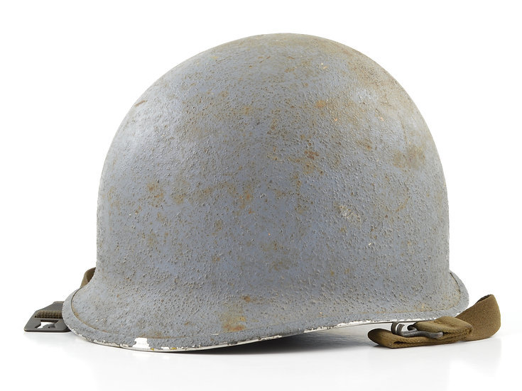 WWII Navy Painted Fixed Loop M1 Helmet & Firestone Liner Set