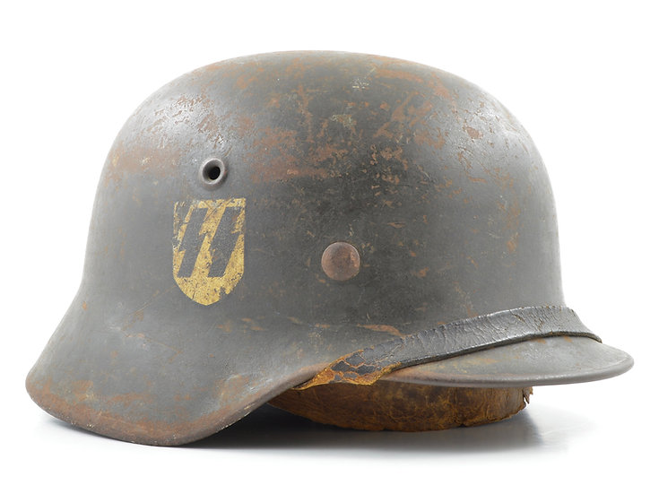 WWII German M40 Waffen SS Single Decal Helmet Set (ET64)