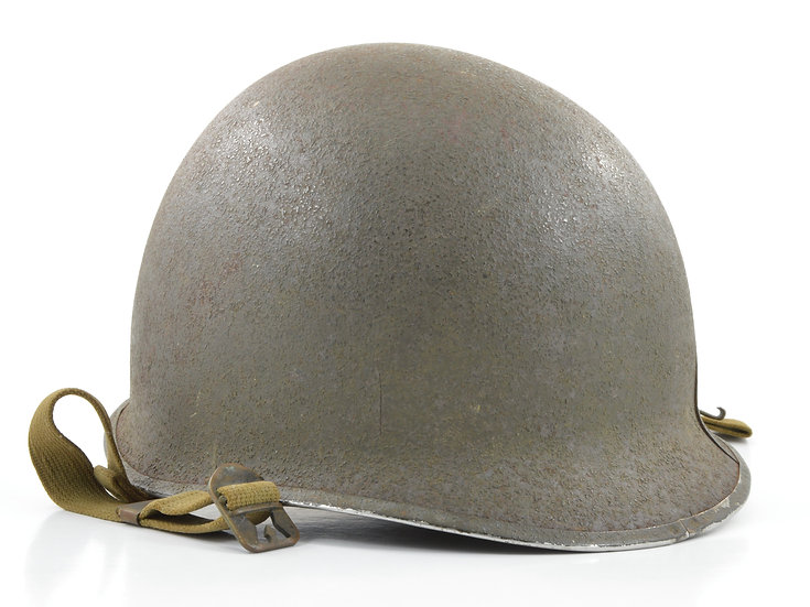 Original WW2 Fixed Loop McCord M1 Helmet Shell (March 1942) For Sale
