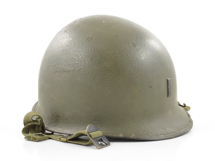 Original WW2 Lieutenant's M1-C Airborne Paratrooper Helmet Shell (November 1944) For Sale