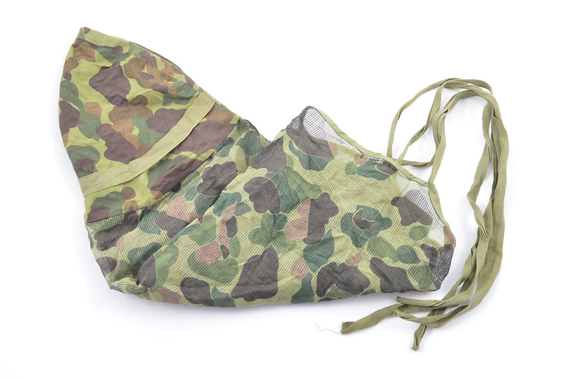 Late-WWII USMC Camouflage Mosquito Net Helmet Cover (Type B)