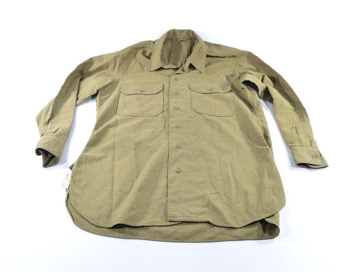 Original WW2 M37 Enlisted Man's Wool Shirt (W/ Gas Flap) For Sale