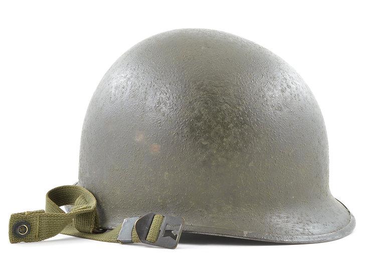 WWII M1-C Airborne Paratrooper Rear Seam Helmet Shell (November 1944)