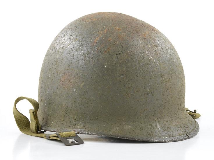 Original Late-WW2 Swivel Loop McCord M1 Helmet & Westinghouse Liner (1944 Set) For Sale