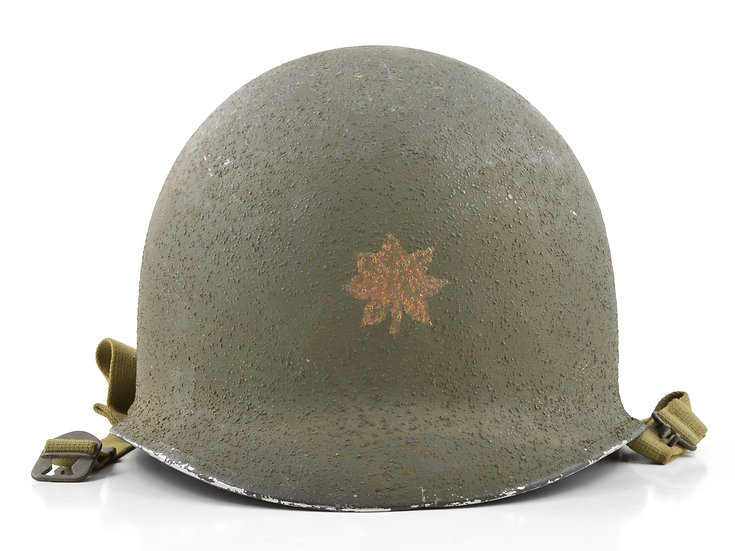 Mid-WWII Major's Fixed Loop M1 Helmet & MSA Liner (1943 Set)