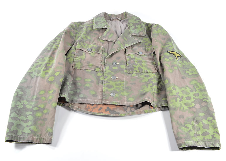WWII German Waffen SS Oakleaf Camouflage Field-Made Tunic