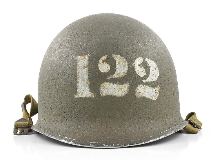 WWII USN Fixed Loop M1 Helmet & High Pressure Liner (Painted Set)