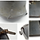 WWII German M35 Former Double Decal Tarnnetz Camo Helmet Shell (EF62)