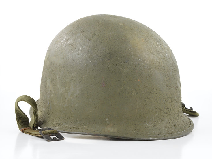 Original Late-WW2 Swivel Loop Schlueter M1 Helmet & Inland/Firestone Liner (1945 Set) For Sale